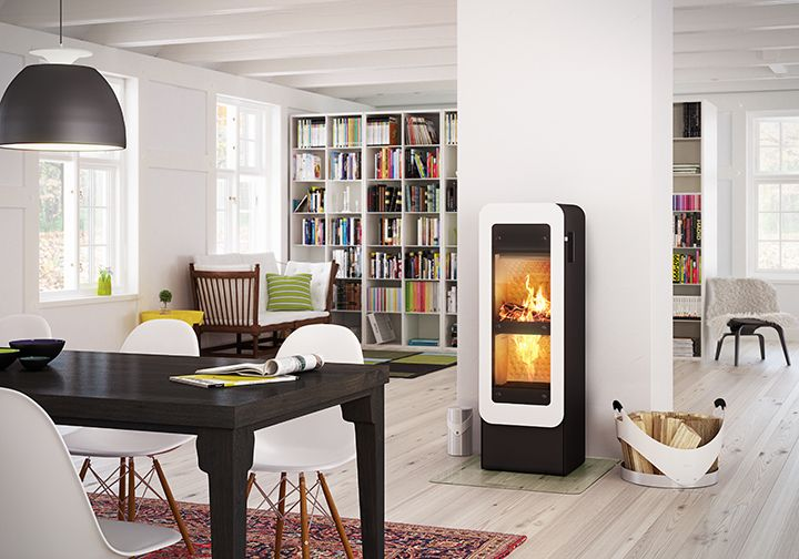 #Bionicfire is from #RAIS and has double combustion chambers and all-automatic air regulation. #fireplace #bionic #brændeovn