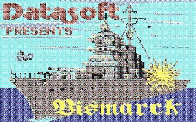 """C-64-Spiel Bismarck auf 5 1/4""""-Diskette"""