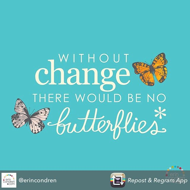"""Nice Just love this Spring quote!   Retweet if you do too! """"#butterflies #change @erincondren"""""""