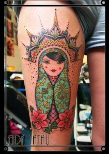 Photo de tatouage: poupee russe categorie Couleur POUPEE RUSSE/Couleur/Mandala/