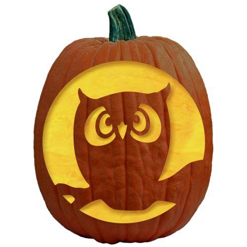 The 25 best owl pumpkin carving ideas on pinterest owl for Fall pumpkin stencils
