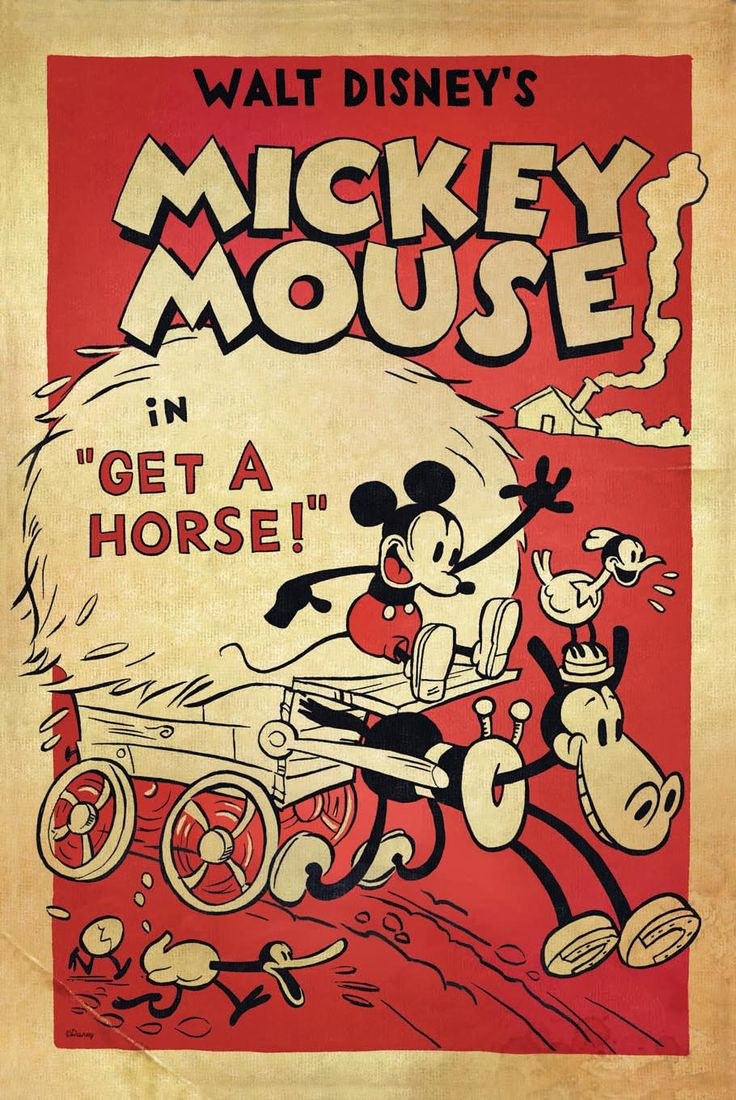 "Disney Unveils ""Get A Horse!"" Mickey Mouse Poster (2013)"