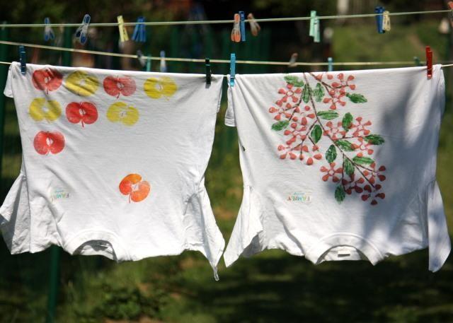 Maľované detské tričká T-shirts upcycling