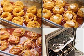 PANELATERAPIA - Blog de Culinária, Gastronomia e Receitas: Ninhos Recheados ao Forno