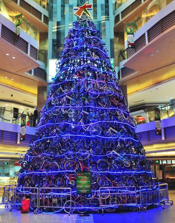 Knog Christmas - Now it feels like Christmas. A tree made of bikes! All it needs now is a bunch of Blinder lights and things would be complete - http://www.knog.com.au/gear-blinder-lights/