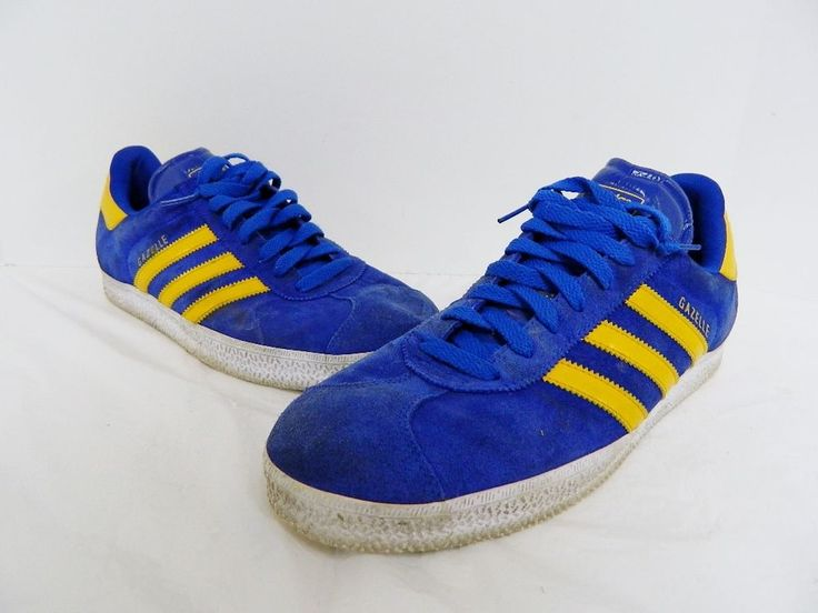 football shoes adidas ebay adidas gazelle 2 blue yellow suede mens trainers