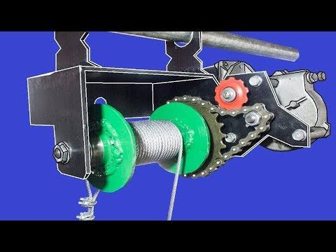 7) Diy Electric Hoist Using Bicycle Parts And Wiper Motor
