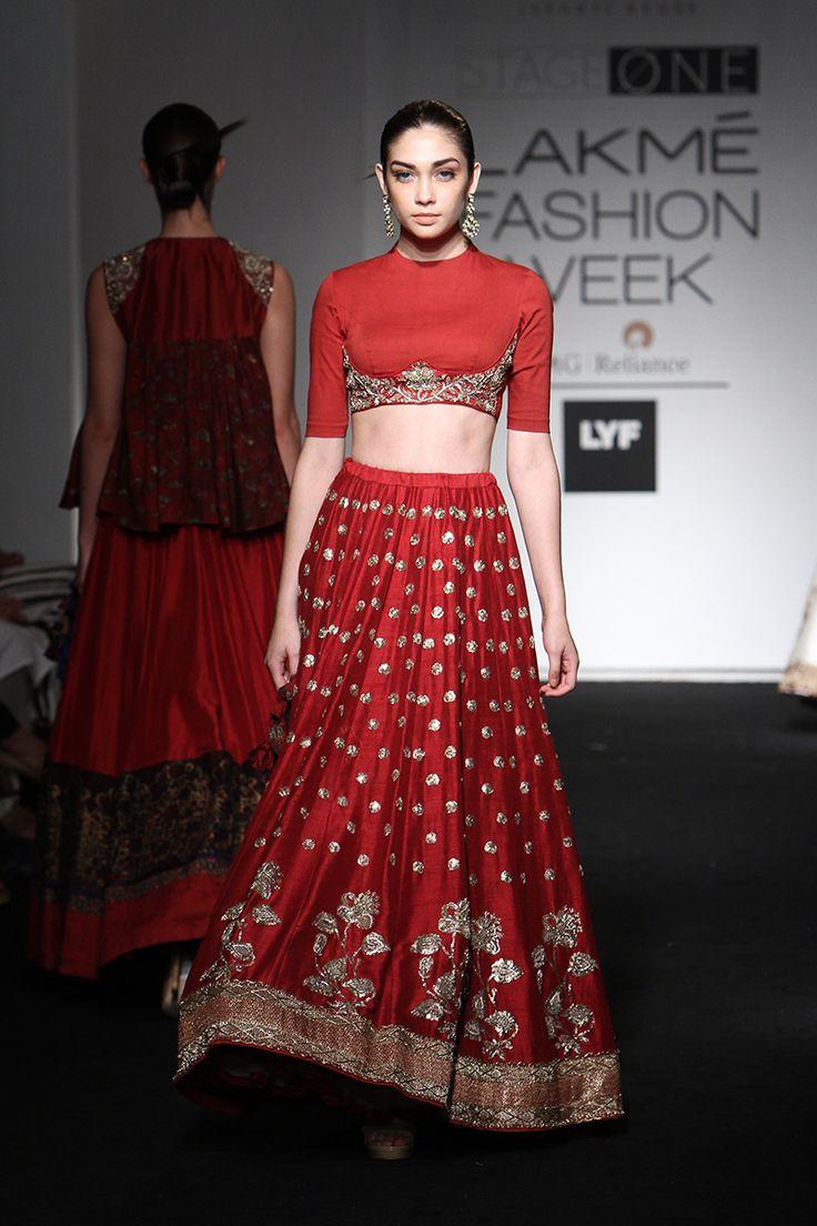 By designer Jayanti Reddy. Shop for your wedding trousseau, with a personal shopper & stylist in India - Bridelan, visit our website www.bridelan.com #Bridelan #jayantireddy #lakmefashionweek