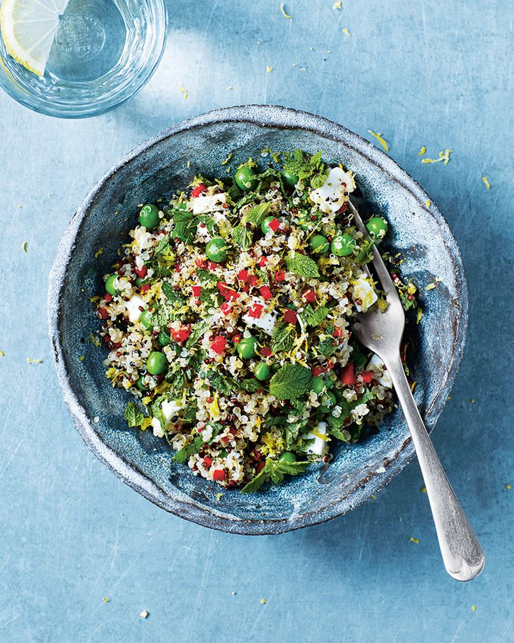 Laura Herring's quick quinoa, feta and mint salad from <i>The Fast Days Cookbook</i> is low in calories, for fast days on the 5:2 diet, but high in protein to keep you full for longer.