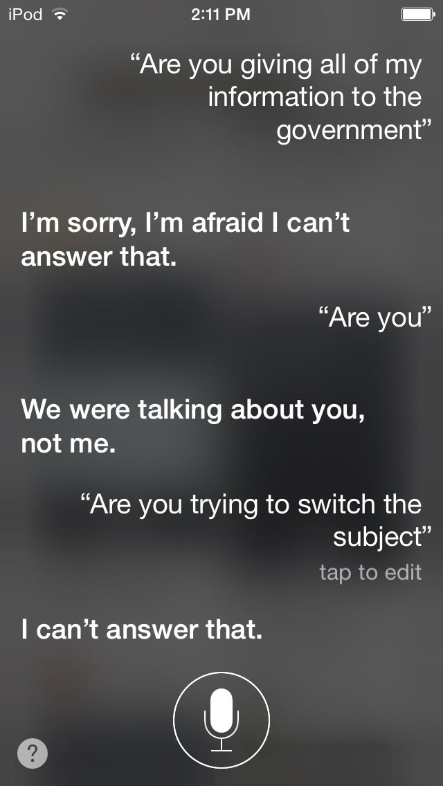 Stuff to ask siri talking to siri
