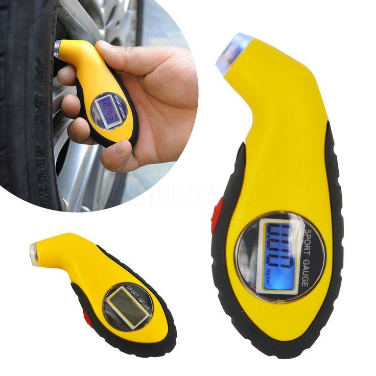 2016 NEW Digital LCD Car Tire Tyre Air Pressure Gauge Meter Manometer Barometers Tester Tool For Auto Car Motorcycle