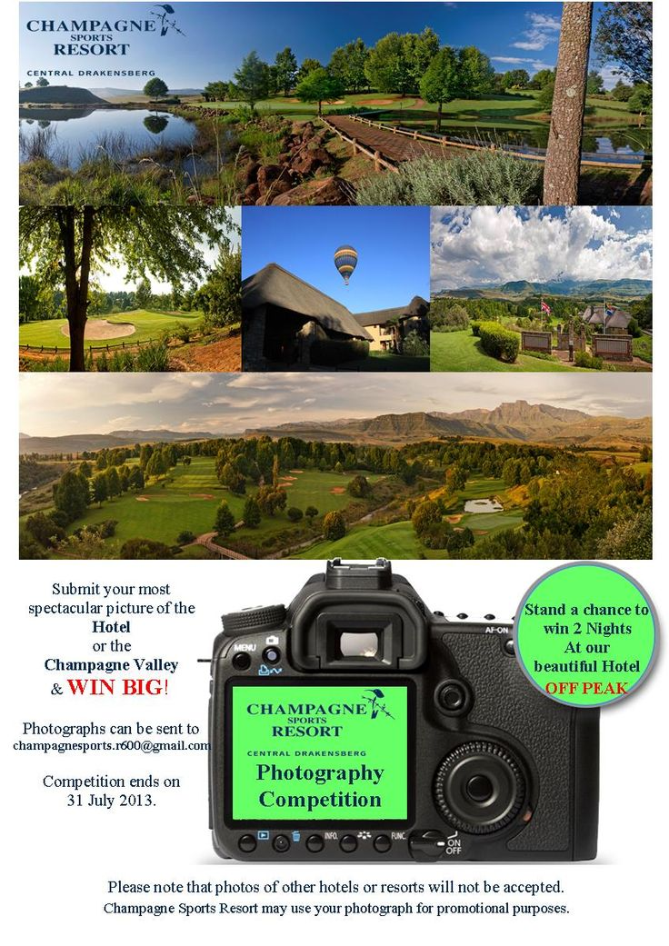 Champagne Sports Resort is holding a Photographic Competition, check out the details below... Hurry - the completion closes on 31 July!