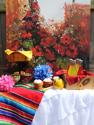 Mexican Fiesta Theme Party-decorTables Clothing, Mexicans Shower, Mexicans Fiestas Parties, Mexicans Theme, Mexicans Parties, May 5, Parties Ideas, Fiestas Theme Parties, Bright Colors