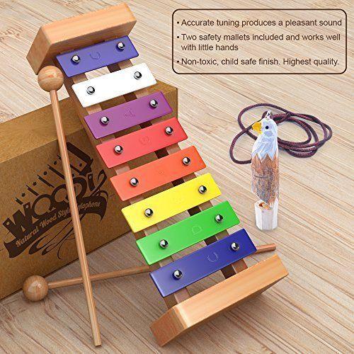 Musical Toys Wooden Xylophone Kids Instrument Gift Children Little Educational  #MusicalToys