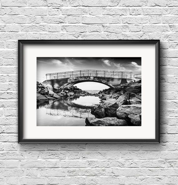 Bridge Over Still Water  FREE SHIPPING  Black by ZacHarneyMedia