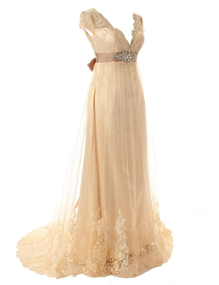 17 best ideas about champagne wedding dresses on pinterest for Plus size champagne wedding dresses
