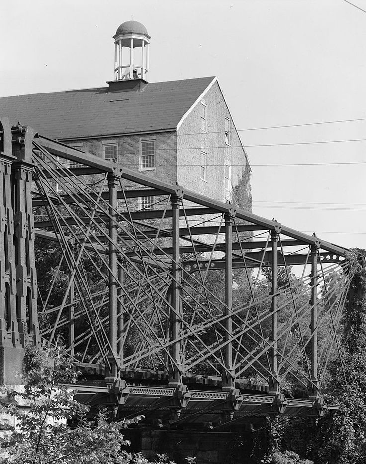 Bollman Suspension and Trussed Bridge in Howard County, Maryland.