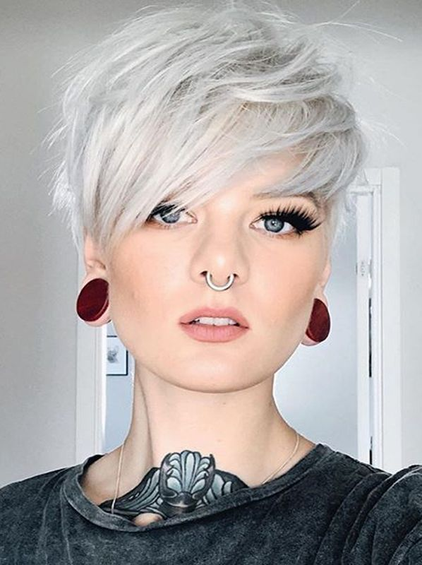 Amazing Undercut Short Pixie Haircuts to Create in 2019   Modeshack #pixiehairstyles Just check out here and use to sport our latest styles of short pixie haircuts with side bangs and blonde hair color shades. You know there are so many different styles in pixie haircuts that are amazing ways for all the fashionable women to wear nowadays.