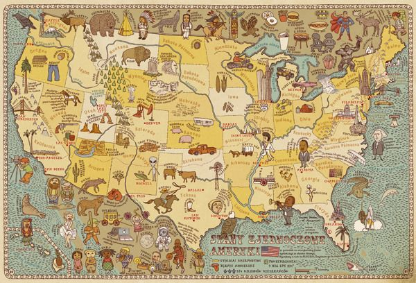 MAPS a journey around the world in pictures -- precious illustrative atlas. Too bad it isn't in English!