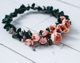 Cool Toned Anemone Floral Crown