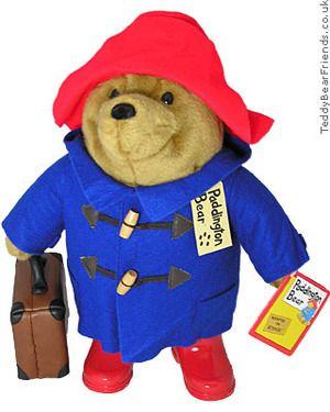 paddington bear love.  if i ever had a little boy, he would have a paddington bear.