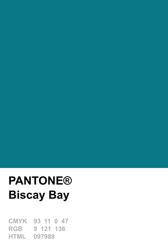 Pantone 2015 Biscay Bay