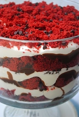 Red Velvet Dirt Cake. I love the way this looks. Bookmarking for Christmas! - Click image to find more Holidays & Events Pinterest pins