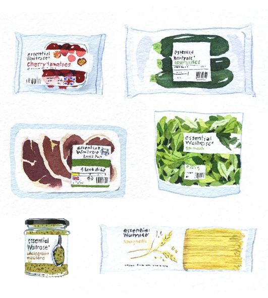 Mary Woodin: Look out for my tasty new illustrations in Waitrose Kitchen magazine.