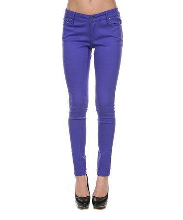 Look at this #zulilyfind! Purple Skinny Pants by Stanzino #zulilyfinds