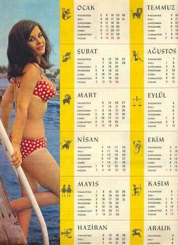 FATMA GİRİK 1967 DERGİ TAKVİMİ