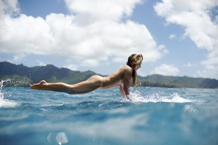 Hawaiian surfer Coco Ho is making waves in the sixth annual ESPN The Magazine's Body issue. The blonde beauty shows off her toned physique as she ditches the wetsuit and surfs naked.
