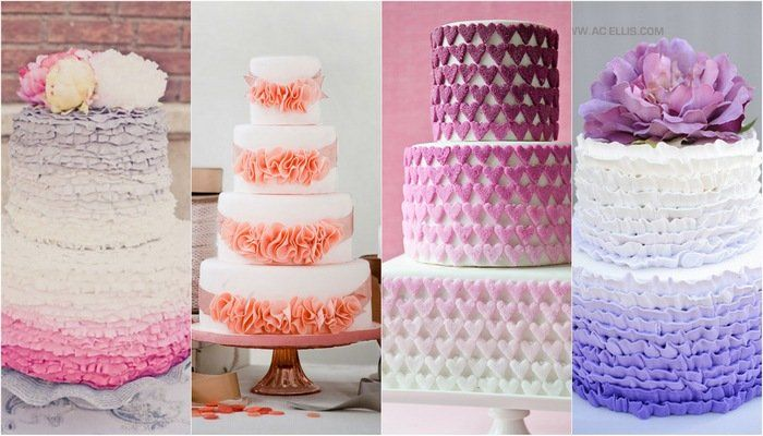 25 Ombre & Ruffle Wedding Cake Wonders This.