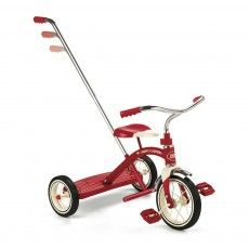 Tricycle avec canne Classic Red 10