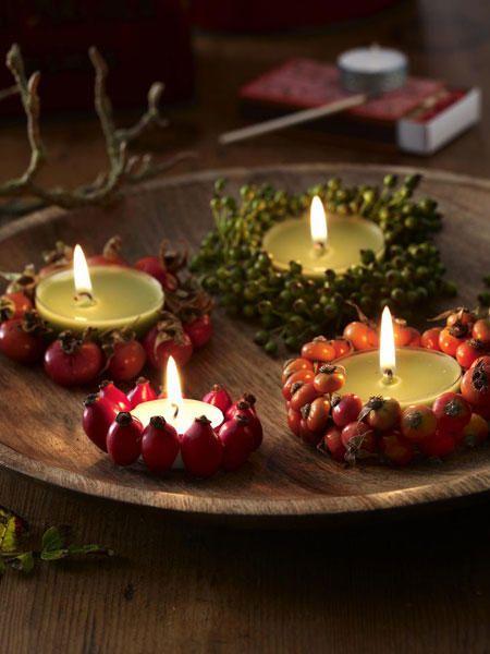 Herbstdeko mit Beeren selber machen