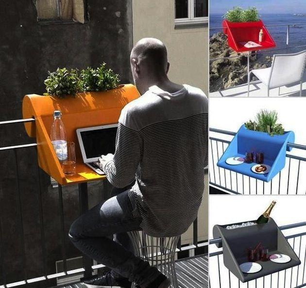Подвесной стол для балкона