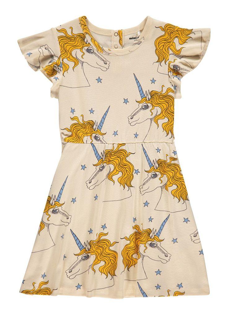 Mini Rodini Unicorn jurk van biologisch katoen • de Bijenkorf
