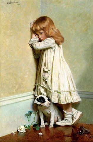 In Disgrace -- Charles Burton Barber (1845 - 1894, English)