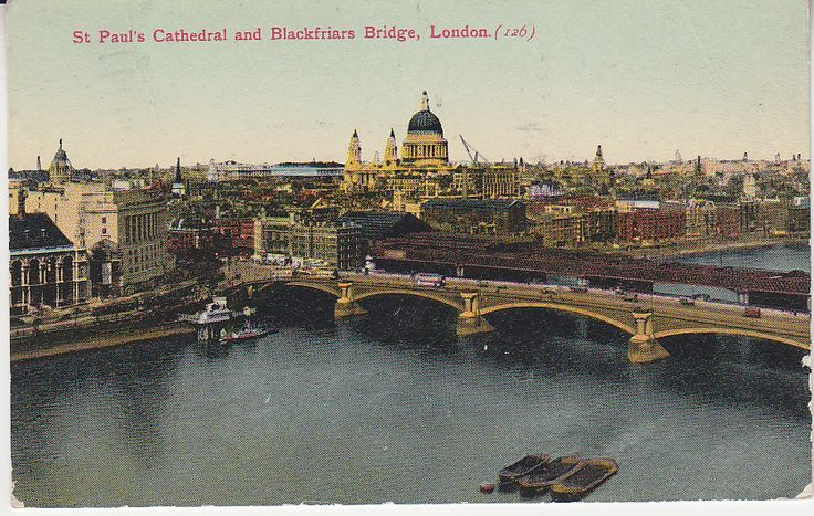 Unknown Publisher Postcard - St Paul's Cathedral and Blackfriars Bridge, London - 126 | PC02331