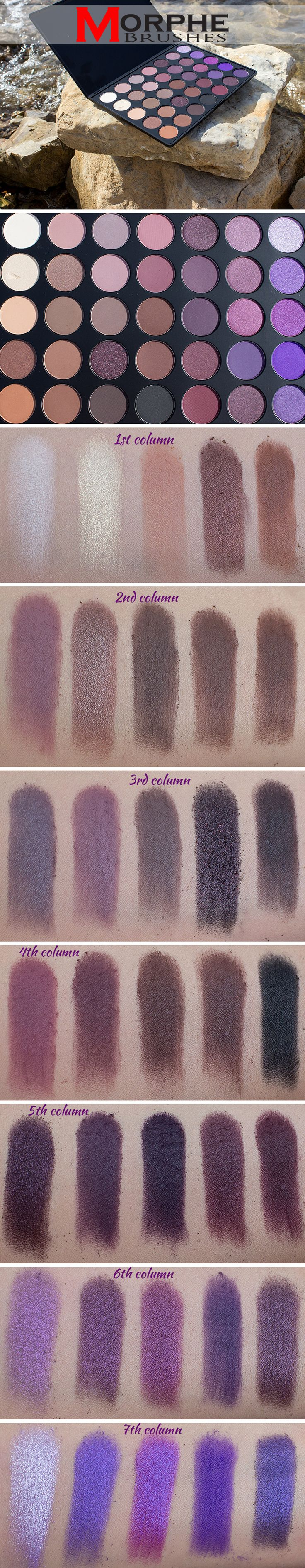 review swatches Morphe Brushes 35P Eyeshadow Palette