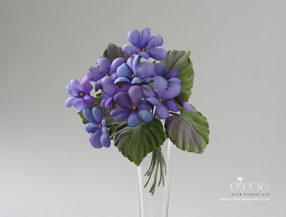 The 34 best unique collection of silk flower creations images on items similar to silk flowers bunch of wild violets boutonnierebroochdecoration on etsy mightylinksfo