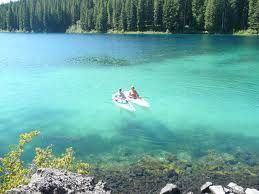 Clear Lake in Oregon - absolutely gorgeous. Plan to take in the 5 mile hike around the lake.  An underground spring at the north end of the lake is where the McKenzie river begins. The lake color is amazing!