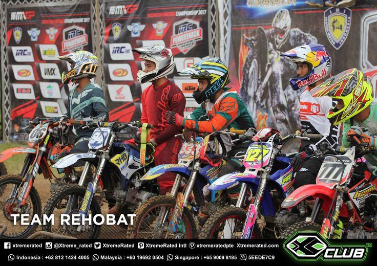 CONGRATULATIONS!  XCLUB Sponsor Rider REHOBAT TEAM  RIZKY HK 1st Place in Moped Class 125 Open  EDI ARYANTO 3rd Place in Moped Class 110 Open  POWERTRACK SERIES 4 (Nov, 04 - 05th 2017) Circuit Powertrack Paramount, Batu, Malang, Indonesia.  #xtremerated #xclub #grasstrack #indonesia