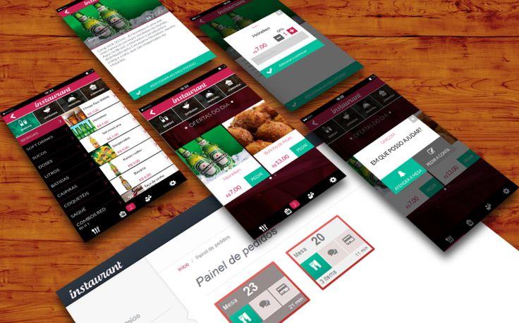 Desenvolvimento de aplicativos para celular. Design UX app, usabilidade apps, design desenvolvimento web, aplicativo Android, IOS, Iphone, Tablet, Ipad. Projeto Instaurant.  www.instaurat.com.br