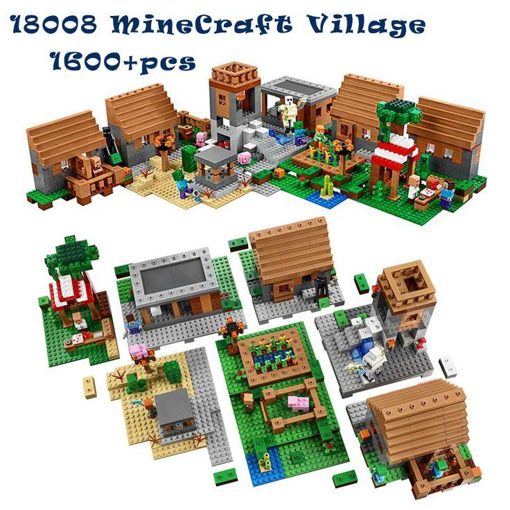 1600+pcs MineCraft Village Model Building kit Lego Compatible //Price: $100.00 & FREE Shipping //     #minecraft