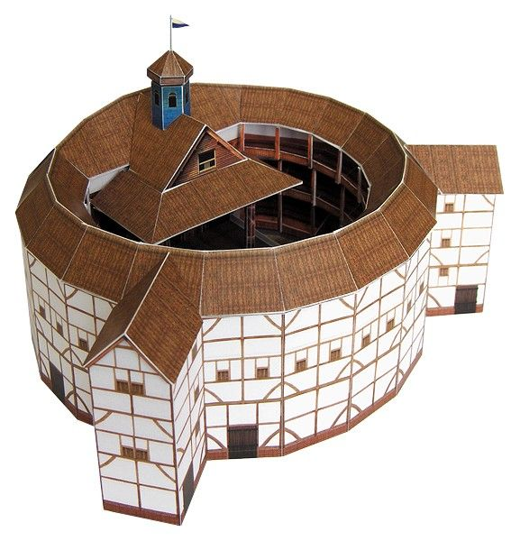 1 150 Scale Paper Replica Of Shakespeares Globe Theatre In London Handmade Latvia By Paperlandmarks Available On Etsy