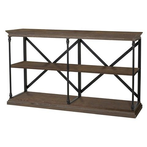appleton two shelf industrial media bookcase brown christopher knight home