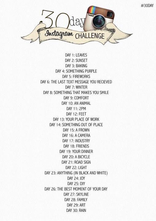 30 Day Instagram Challenge for November.