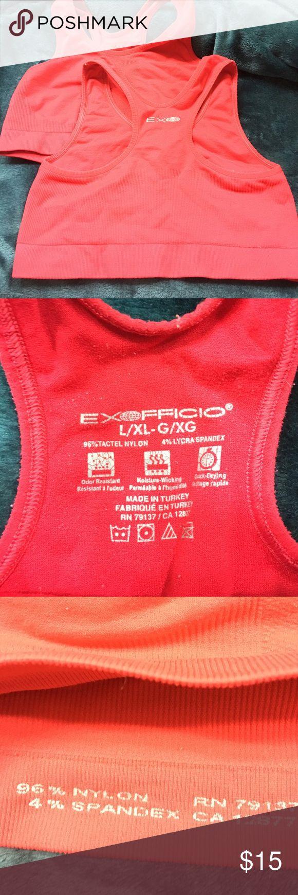 2 Stretchy Exfficio Sports Bras Stretchy Red Sports Bras you get 2. Size is L/XL Exfficio Tops