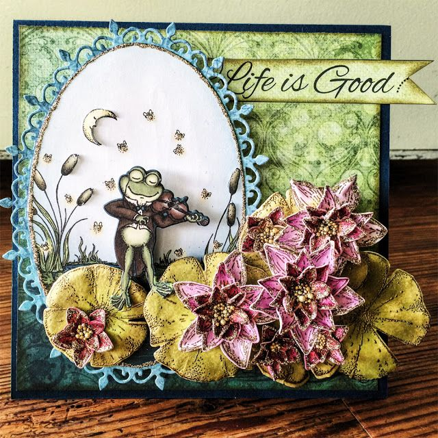 BEADZ: Life is Good With Heartfelt Creations Card created with Winking Fog Collection from @hcofficial