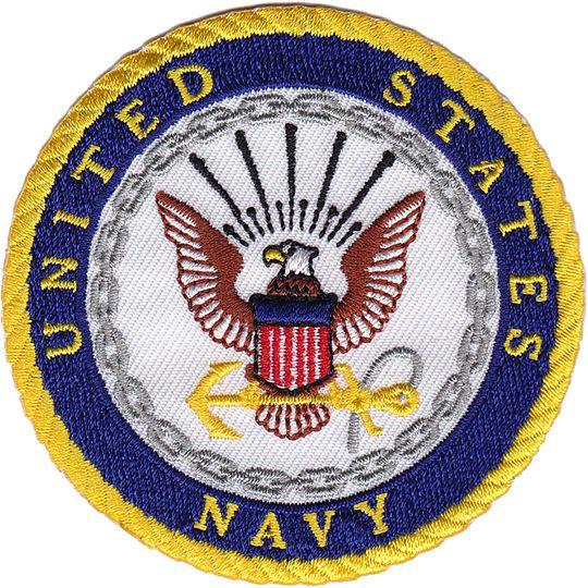 C&d Visionary® IronOn Applique Patch, Navy Logo